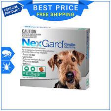 NEXGARD For Dog 10.1 to 25Kg GREEN Pack 6 Chews Flea and Tick treatment NEXGUARD