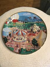 "Franklin Mint County Fair American Folk Art Steven Klein Collectible Plate 8"""