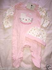 pyjama bonnet coton neufs etiquetés sanrio hello kitty taille 0-3 mois