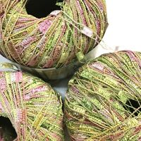 Ice Yarns Ladder Lurex Tonal Trellis 55 Pixie Dust Lot Stash Craft Crochet Scarf