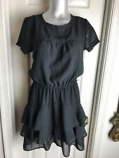 CONVERSE One Star Womens SIZE - M FLIRTY -Black Pullover Dress Tiered Skirt