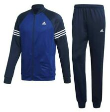 Full Set Adidas Tracksuit Mens Performance Cosy Polyester Blue/Navy  D94484