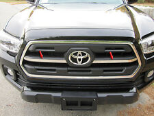 2PC STAINLESS STEEL FRONT GRILLE ACCENT TRIM QAA FITS 2016 TOYOTA TACOMA