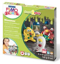 FIMO kit per i bambini costituiscono & play Polimero Argilla Modellare Forno Bake Set Monster