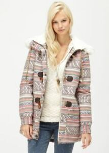 AS NEW Chestnut Way Geometric Print Coat Jacket ROXY Size XS Gorgeous *L