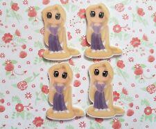 4 x Cute Little Princess Rapunzel Flatback Planar Resin Embellishment Bow Craft