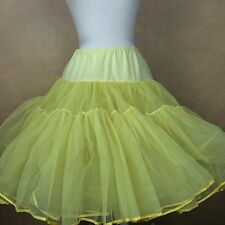 Vintage Yellow Tulle Square Dance Petticoat 2 tier 2 Layer w Soft Inside Lining
