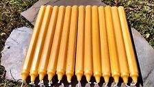 "36 - Handmade 100% Beeswax 10"" Octagon Taper Candles All-Natural Cotton Wicks"