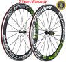 Superteam 60mm Clincher Road Bike Wheelset 700C Aluminum Bicycle Carbon Wheels