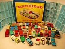 VINTAGE 1960's MATCHBOX LESNEY 48 CAR LOT WITH CARRY CASE