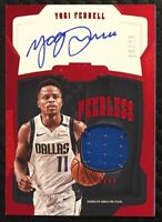 2018-19 Panini Dominion Yogi Ferrell Peerless Red Jersey Auto 19/25 Kings