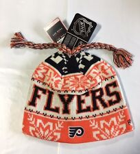 Philadelphia Flyers Knit Beanie Toque Winter Hat Skull Cap New NHL Braids $18