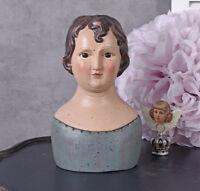 Deckeldose Frauenkopf Antik Box Schmuckkasten Schatulle Shabby Büste Schachtel