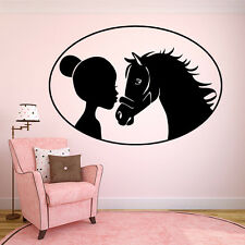 Wall Room Decor Vinyl Sticker Mural Decal Nursery Girl Pony Horse Little F2242