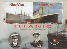 TITANIC 100th ANNIVERSARY CRUISE SHIP SHIPWRECK BOAT 2012 MNH STAMP SHEETLET