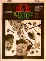 AFFICHE CINEMA film movie Peau de banane - BELMONDO / BRASSEUR / MOREAU 60x80