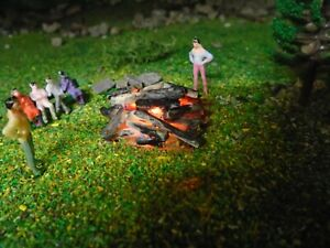 CAMPFIRE BONFIRE WITH FLICKERING LED OO GAUGE BRAND NEW
