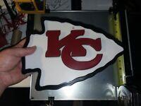 "3D PRINTED NFL Kansas City Chiefs 3D Graphics Logo Wall Sign Plague 9""×12"" Dia"