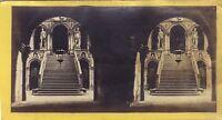 Venezia Scalinata Dei Giganti Del Palais Dei Doge Italia Stereo Albumina Ca 1865