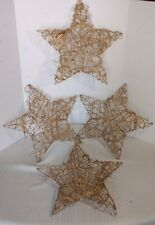 Grapevine Gold Twig Star Wreaths with Hooks for Hanging~Christmas~NWT~ Lot of 4