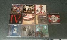 10 heavy metal/punk cds (lot-godsmack-rob zombie-ac/dc-gravity kills