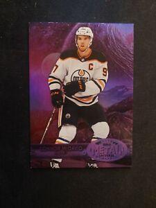 Connor McDavid 148/199 2020-21 Metal Universe Purple Spectrum 97 Edmonton Oilers