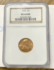 1972-P NGC MS-66 Red Lincoln Memorial Cent