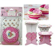 3pk Round Food Fairy Cake Cupcake Muffin Wedding Party Display Stand Serving New