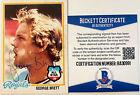 George Brett Signed 1978 Topps #100 Trading Card Beckett BAS COA Auto Royals HOF