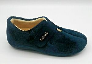Ladies Ankle Boot Slipper  -  DeValverde - 9724 Marino  (Navy(