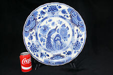 A very large blue and white charger by Royal Delft (1923)