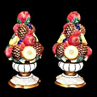 Fitz and Floyd Classics Winter Spice Handcrafted Holiday Salt Pepper Shaker Set