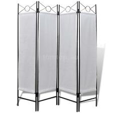 4-Panel Room Divider Privacy Folding Screen White 160 x 180 cm Window Partition