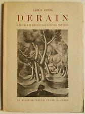 Carlo Carra Derain, Derain, Carlo Carra, Katatlog Derain, Catalogue Derain,