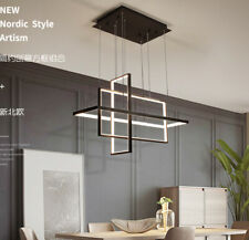 Hanging LED Ceiling Light Modern Iron Square Shapes Indoor Homes dimmable lamp