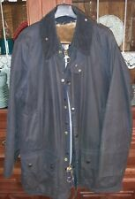 Giacca uomo Barbour Beaufort (cerata, impermeabile) Blu Vintage Usata