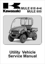 Kawasaki Mule 600 610 4x4 UTV Service Manual 2005-2013 (B78)