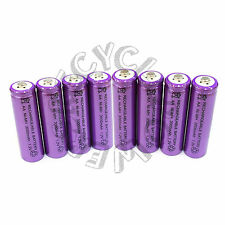8 x AA LR6 UM3 3000mAh Ni-MH Rechargeable Battery Purple Cell 2A