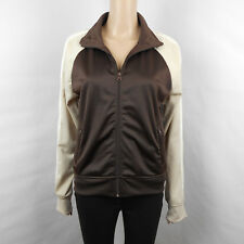 BB Dakota Womens Future Rock Star Dark Brown Bomber Jacket Size L Large