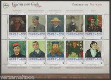 """NVPH 3013 P: VINCENT VAN GOGH 1853 - 1890: """"PORTRETTEN""""  2015 vel postfris"""