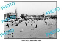OLD 6 x 4 PHOTO GLENELG BEACH ADELAIDE SOUTH AUSTRALIA c1900