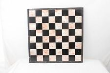 "Black & White Stone Chess Board Vintage 13.5"" Square ½"" thick Solid"