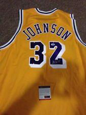 Lakers Magic Johnson Autographed Shirt PSA Hologram and Coa