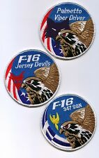 FIGHTING FALCON F-16 SWIRL COLLECTIONS: Set of three F-16 Swirls (any combo) a