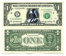 DARK VADOR - VRAI BILLET de COLLECTION 1 DOLLAR US ! STAR WARS C. darth vader