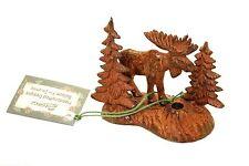 Moose and Trees incense burner metal 3D Paine's brass incense stick holder