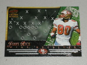 1997 Pacific Crown Royale Chalk Talk Laser Cuts #17 Jerry Rice