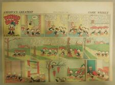 Donald Duck Sunday Page by Walt Disney from 2/7/1943 Half Page Size