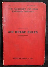 1958 Air Brake Rules Hand Book For The Baltimore And Ohio Railroad Company