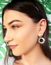 Hoop Circle Contemporary Style Earrings Lightweight Resin And Gold Feature